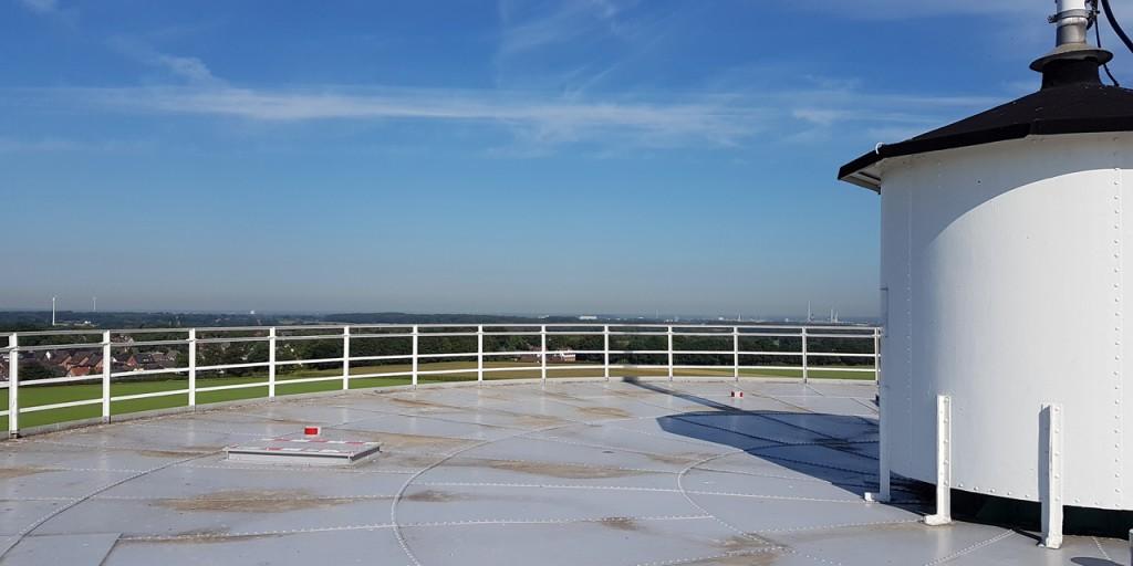 Die Aussichtsplattform in 32 Metern Höhe.