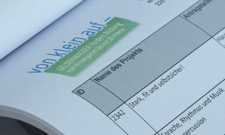 """Jurysitzung beim Bildungsprojekt """"von klein auf"""""""