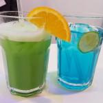 Cocktails Blau-grün