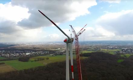 Cooler Zeitraffer-Film: So wird eine Windenergieanlage gebaut