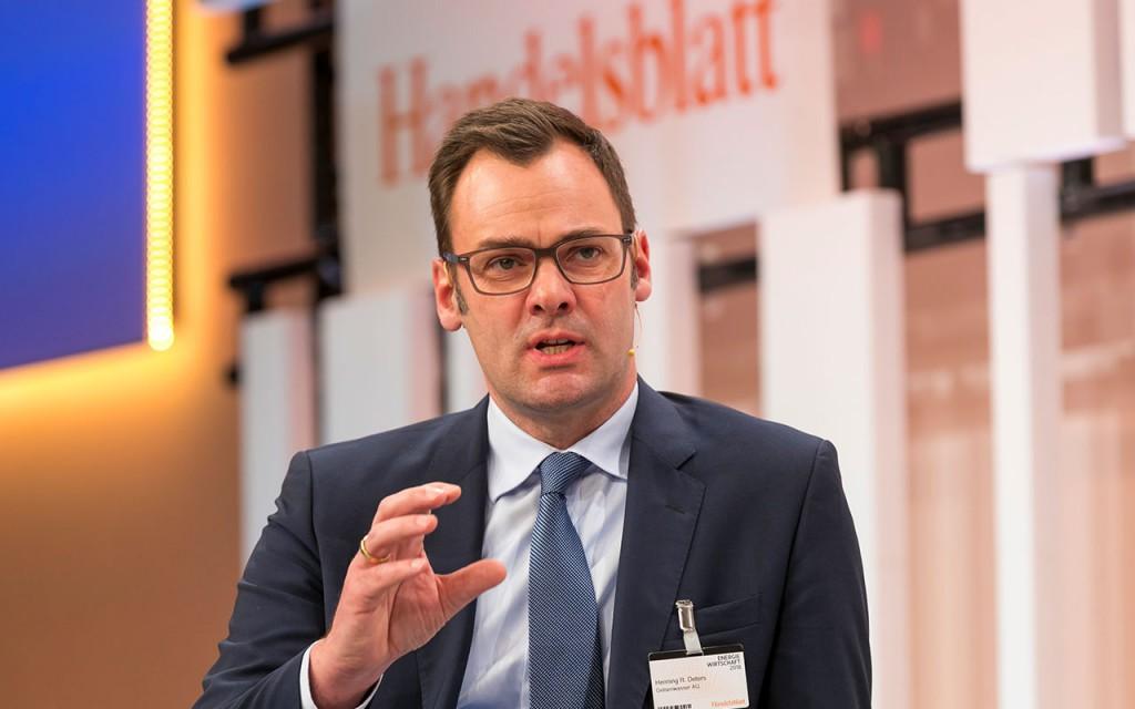 Energietagung: Henning Deters, Vorstand von Gelsenwasser, diskutiert bei der Handesblatt Jahrestagung über die Zukunft der Energiewirtschaft.