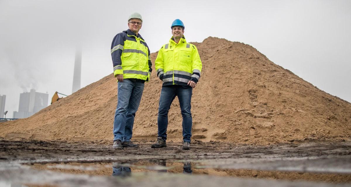 Aus Bodenaushub wird feinster Sand