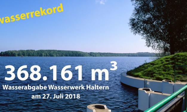 Wasserverbrauch im Juli stark gestiegen