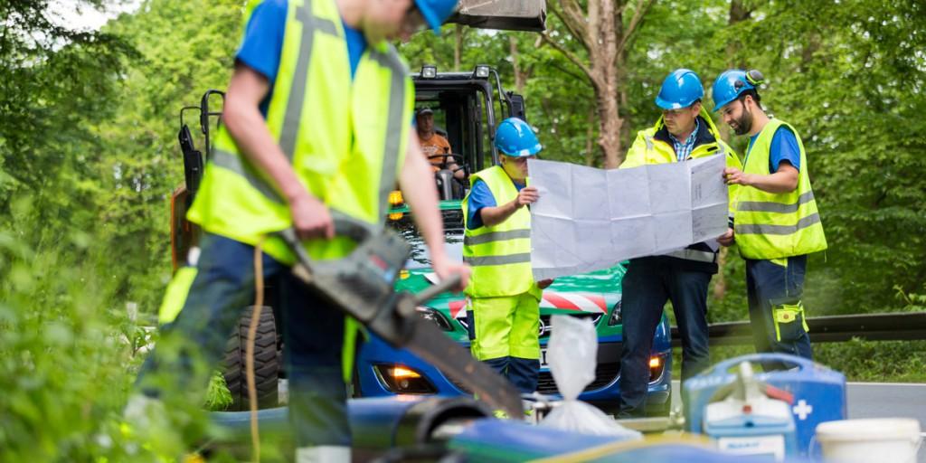 Gelsenwasser ist ei Spezialist für Infrastruktur: Das Wasserverteilungssystem ist unser Schatz unter der Straße. Seine Pflege ist aufwendig.