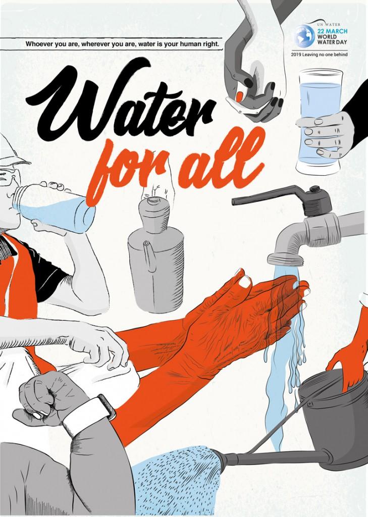 """Weltwassertag 2019. Das Motto in diesem Jahr ist """"Niemanden zurücklassen"""""""