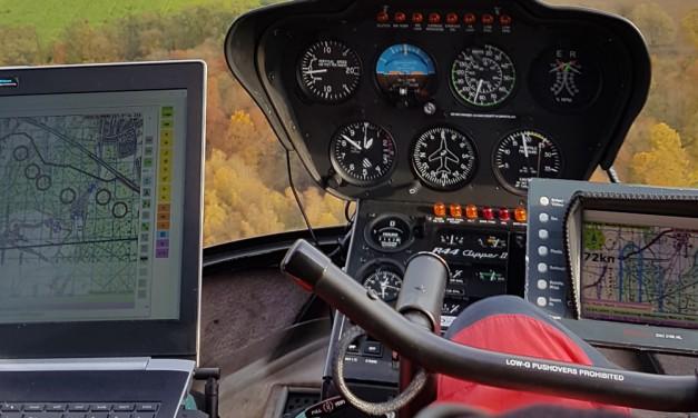 Kontrolle aus der Luft: Mit dem Helikopter über das Wasserschutzgebiet