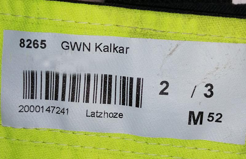 Multinorm-Schutzkleidung bei Gelsenwasser: Mit derm Barcode wird die Kleidung zugeordnet.