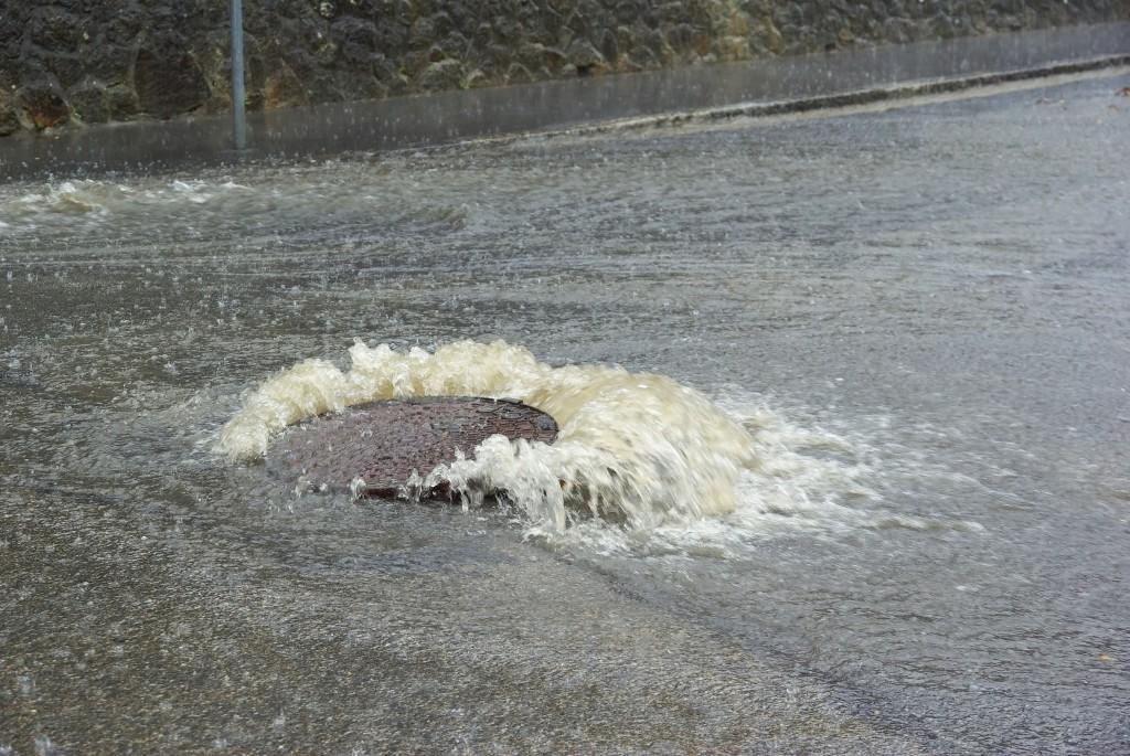 Starkregen bringt die Infrastruktur an ihre Grenzen