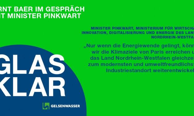 Podcast GLASKLAR Folge 1 mit NRW-Wirtschaftsminister Pinkwart