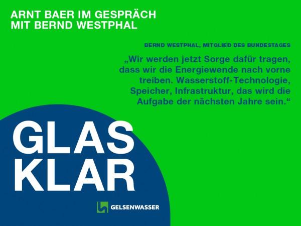 Bernd Westphal im GLARKLAR-Podcast der GELSENWASSER AG